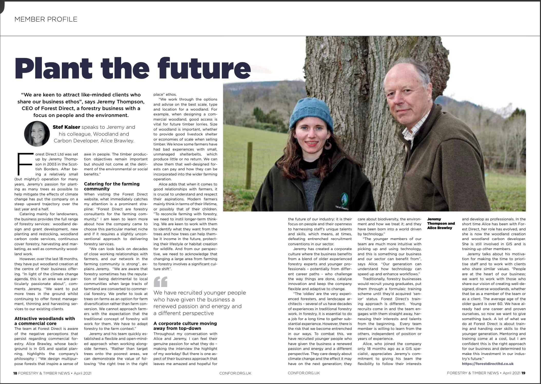 Plant The Future | Forestry and Timber News April 2021