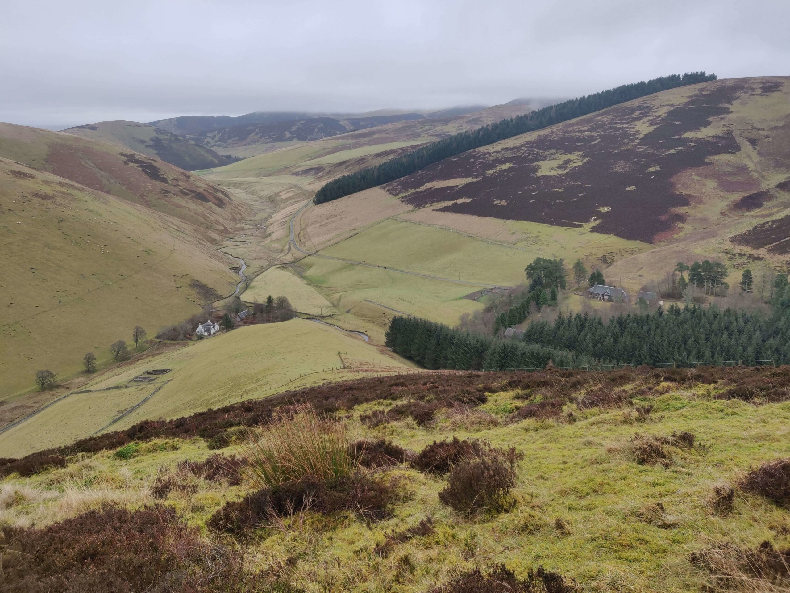A broad view of the Baitlaw Farm Hill in South Lanarlshire.